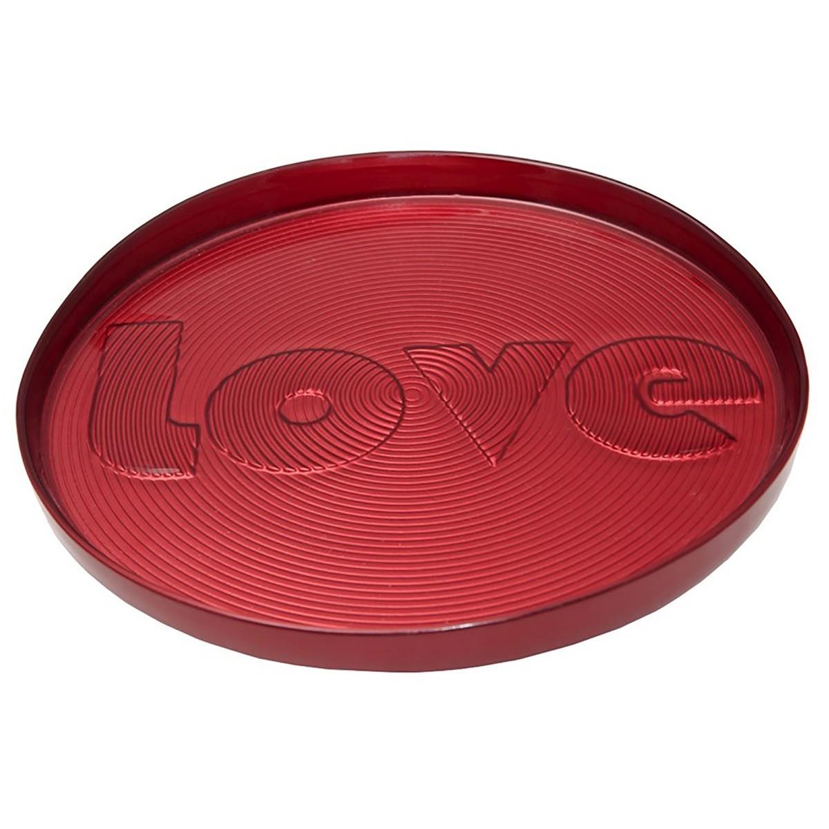 Πιατέλα Σερβιρίσματος Espiel Love Red HOR1430K1 home   κουζίνα   τραπεζαρία   είδη σερβιρίσματος