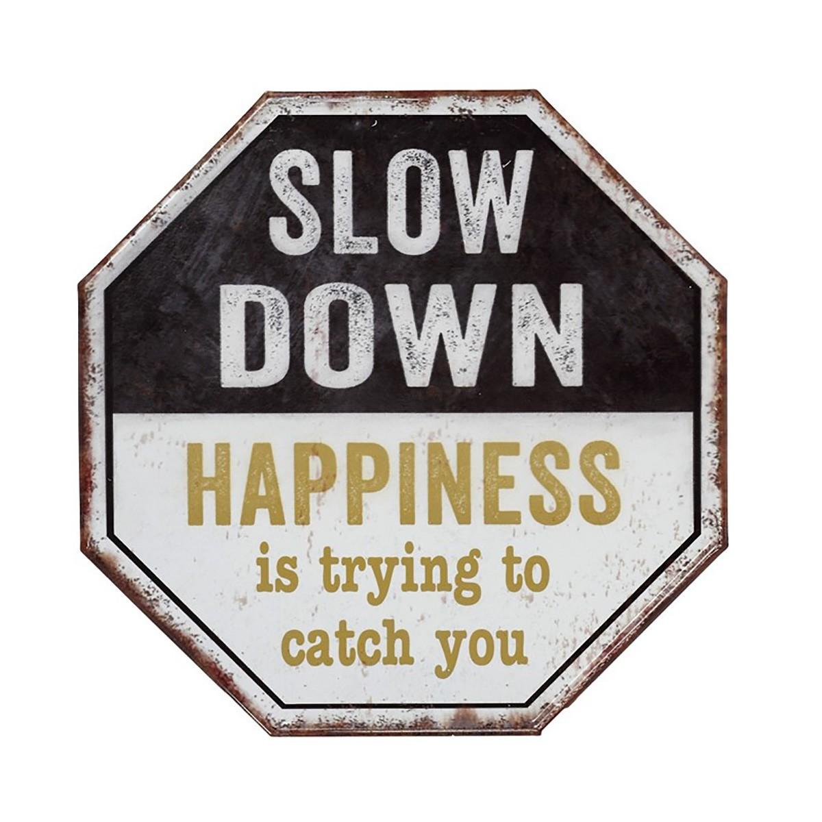 Διακοσμητική Ταμπέλα Espiel Slow Down NIK215