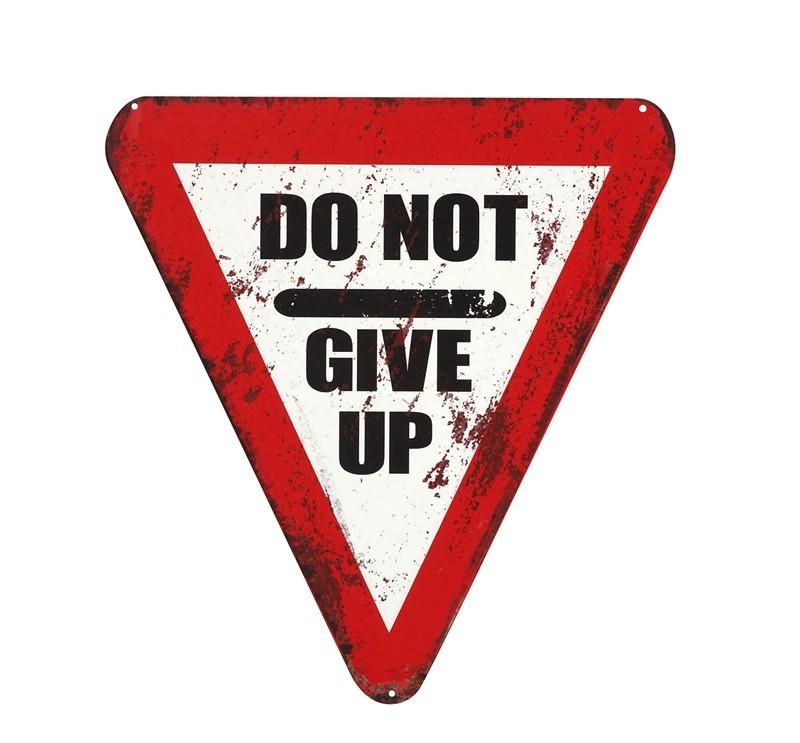 Διακοσμητική Ταμπέλα Espiel Give Up LOG411