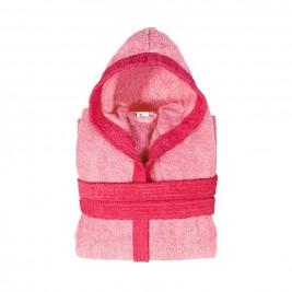 Παιδικό Μπουρνούζι Fennel BiColor Ροζ