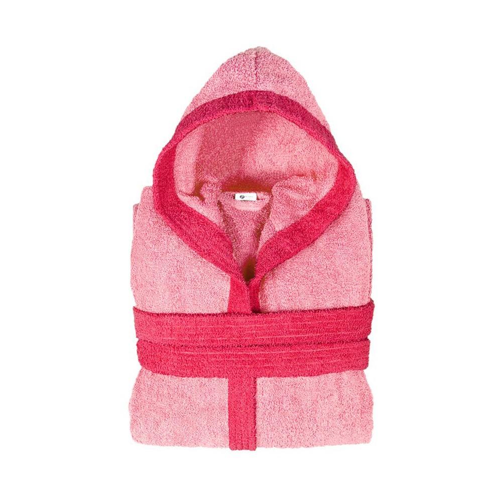 Παιδικό Μπουρνούζι Fennel BiColor Ροζ Νο10-12 Νο10-12
