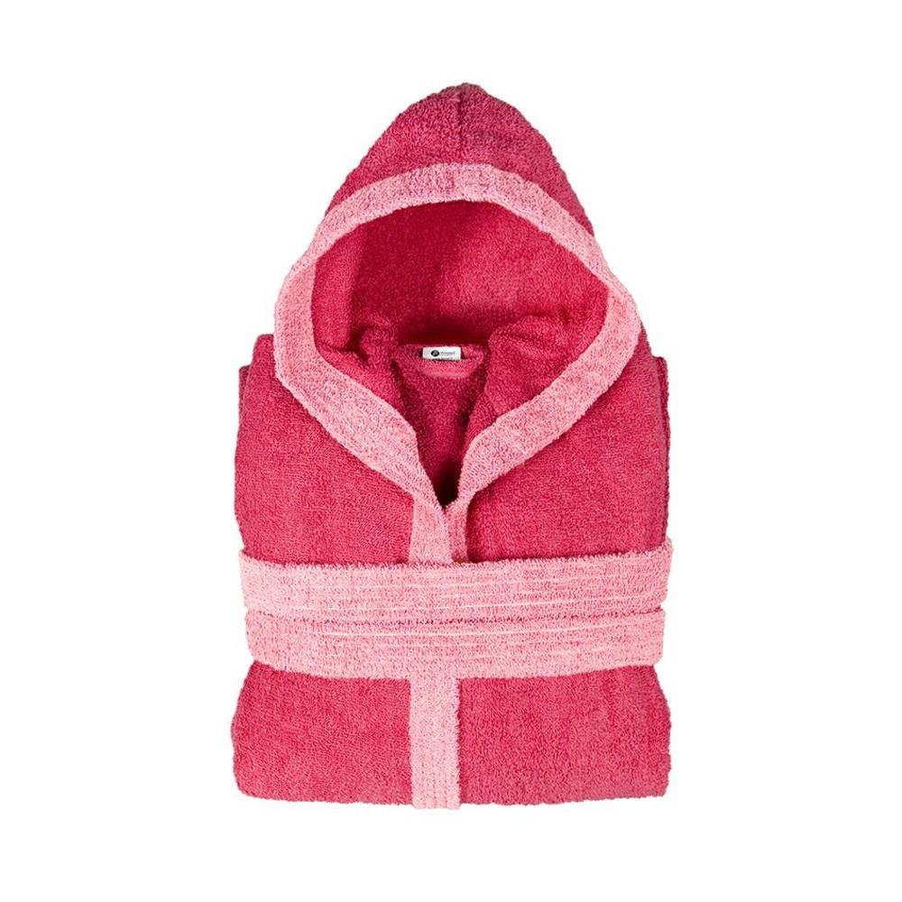Παιδικό Μπουρνούζι Fennel BiColor Φούξια Νο12-14 Νο12-14
