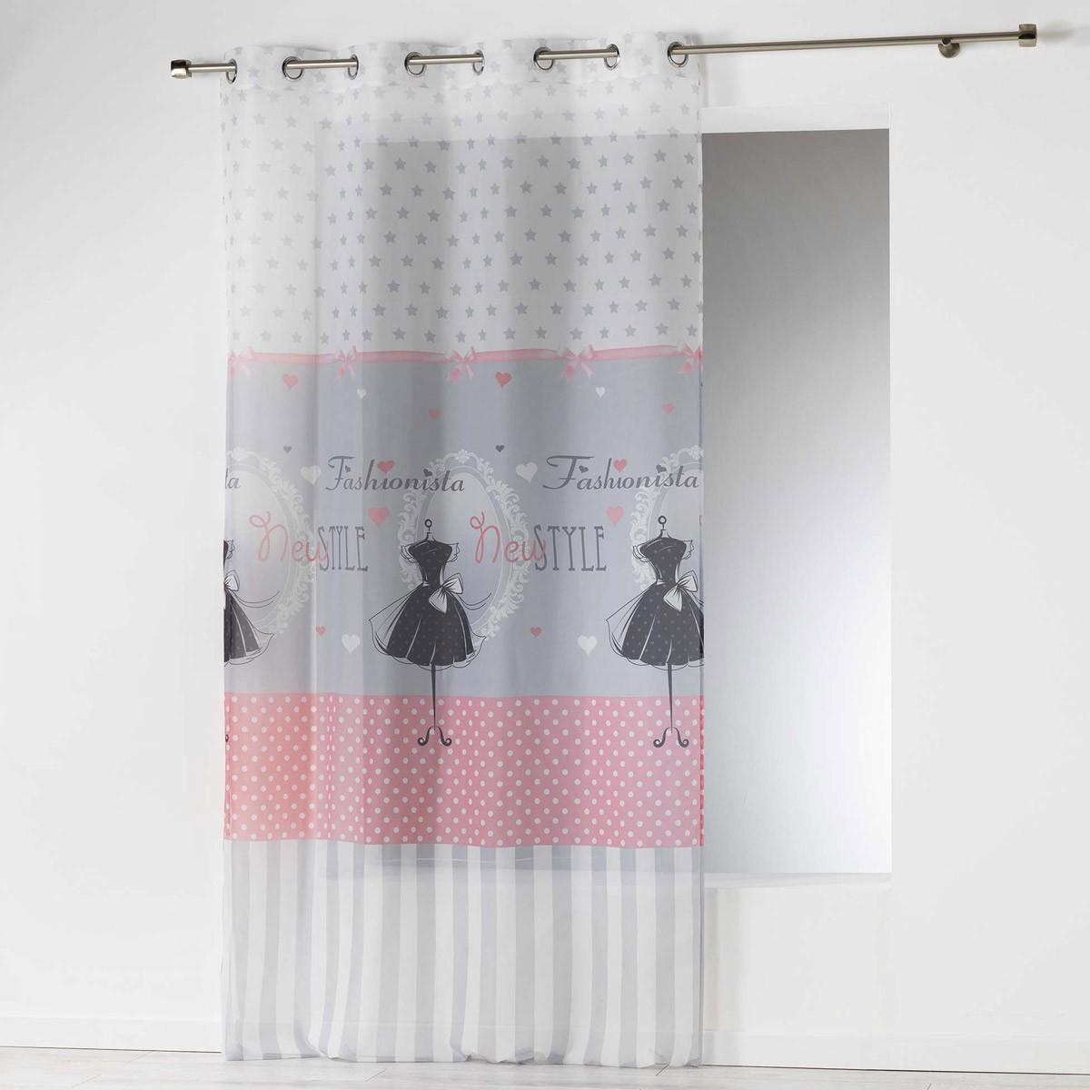 Κουρτίνα (140×240) Με Τρουκς Couture Voilage 1624728
