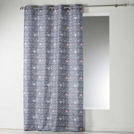 Κουρτίνα (140x260) Με Τρουκς Cylia Rideau Gris 1606325