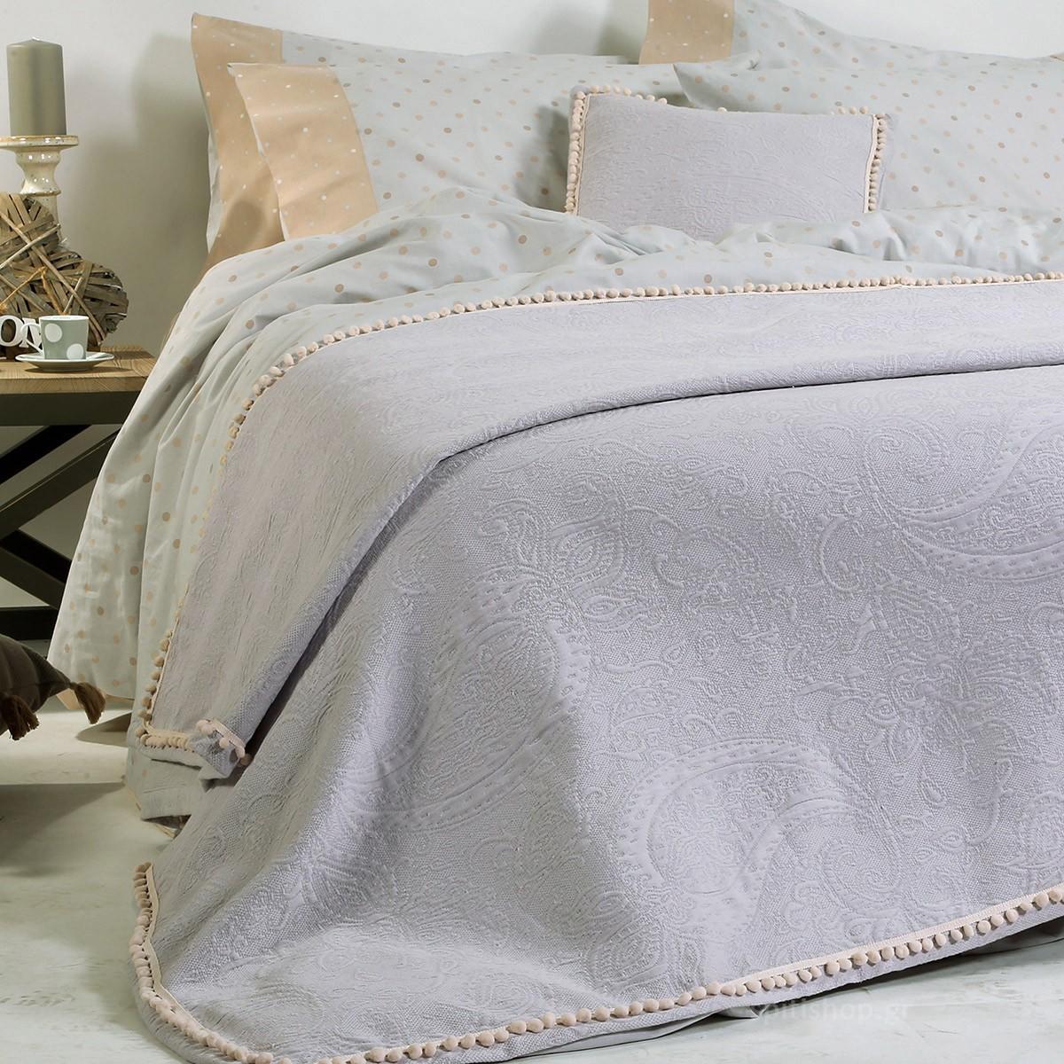 Κουβερτόριο Υπέρδιπλο Nef-Nef Adelaid Grey home   κρεβατοκάμαρα   κουβέρτες   κουβέρτες καλοκαιρινές υπέρδιπλες
