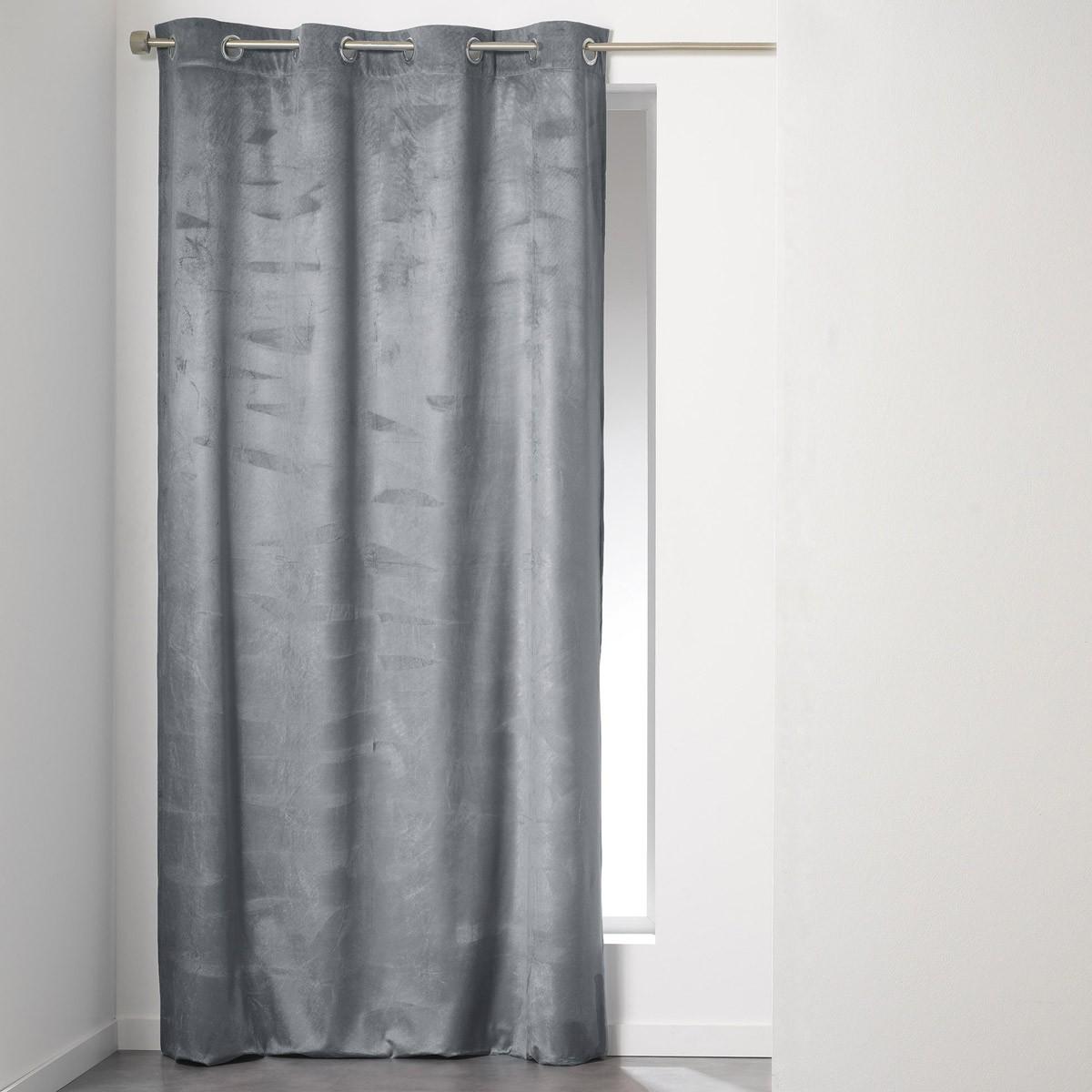 Κουρτίνα (140×240) Με Τρουκς Romantic Anthracite 1605434