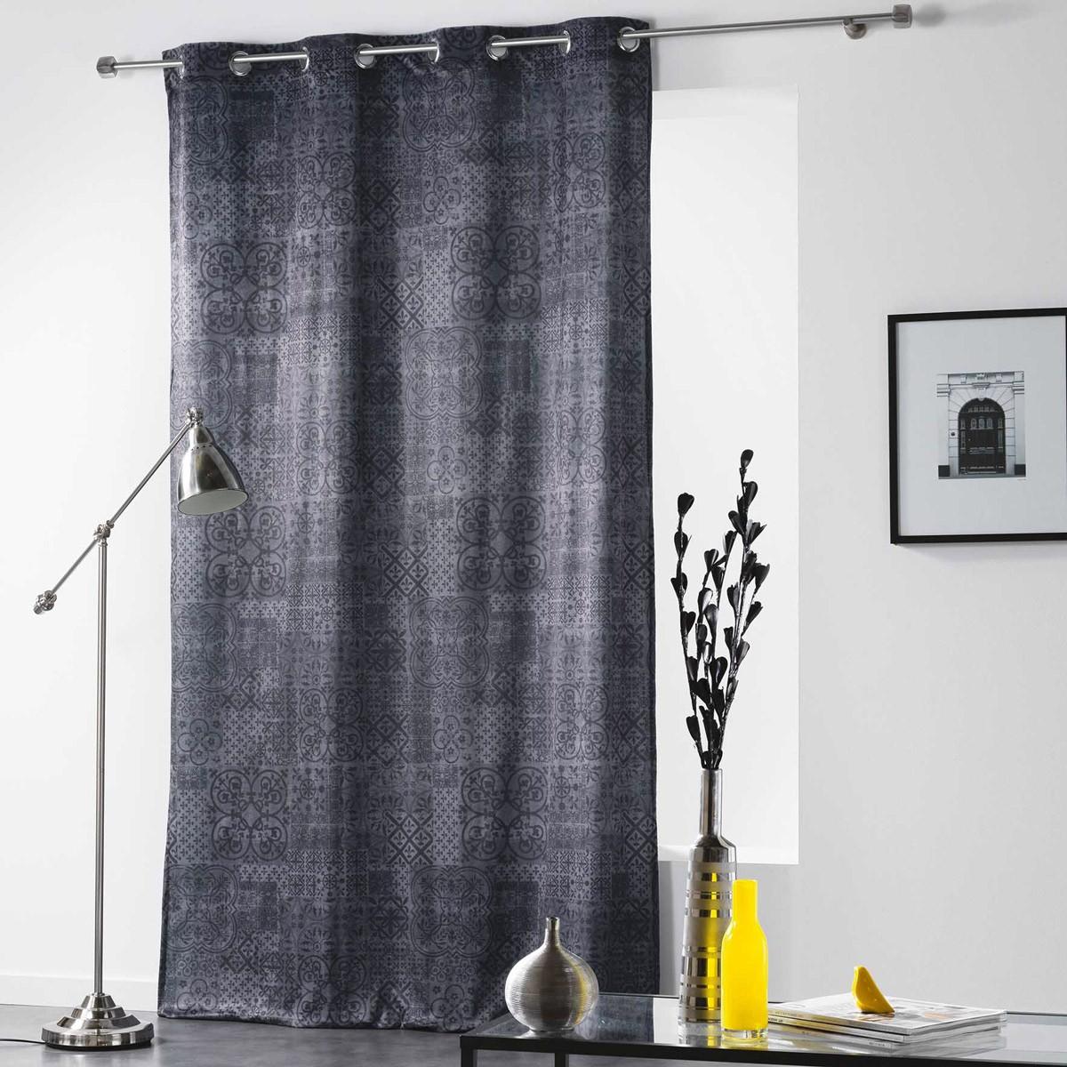 Κουρτίνα Black Out (140×260) Με Τρουκς Verona Anthracite 1606761