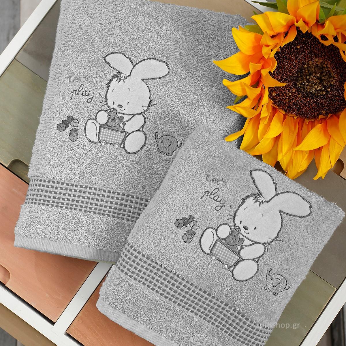 Βρεφικές Πετσέτες (Σετ 2τμχ) Sb Home Bunny Silver