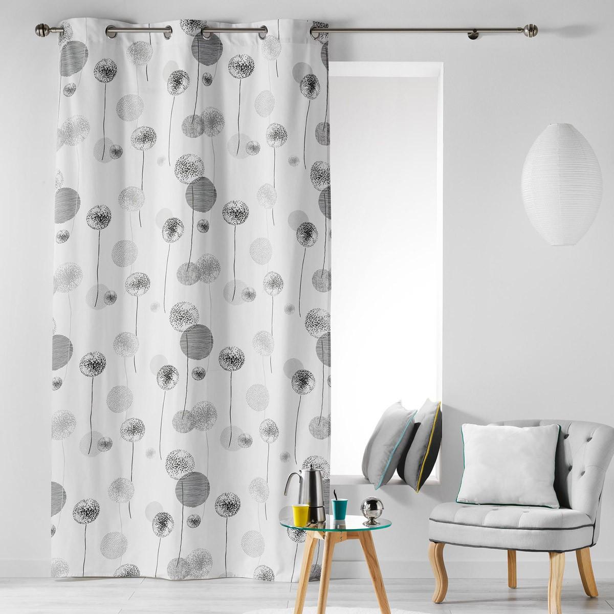 Κουρτίνα (140×240) Με Τρουκς L-C Tina Gris 1606061