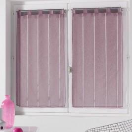 Σετ Κουρτίνες Παραθύρου (60x90) Louane Violet 1624061