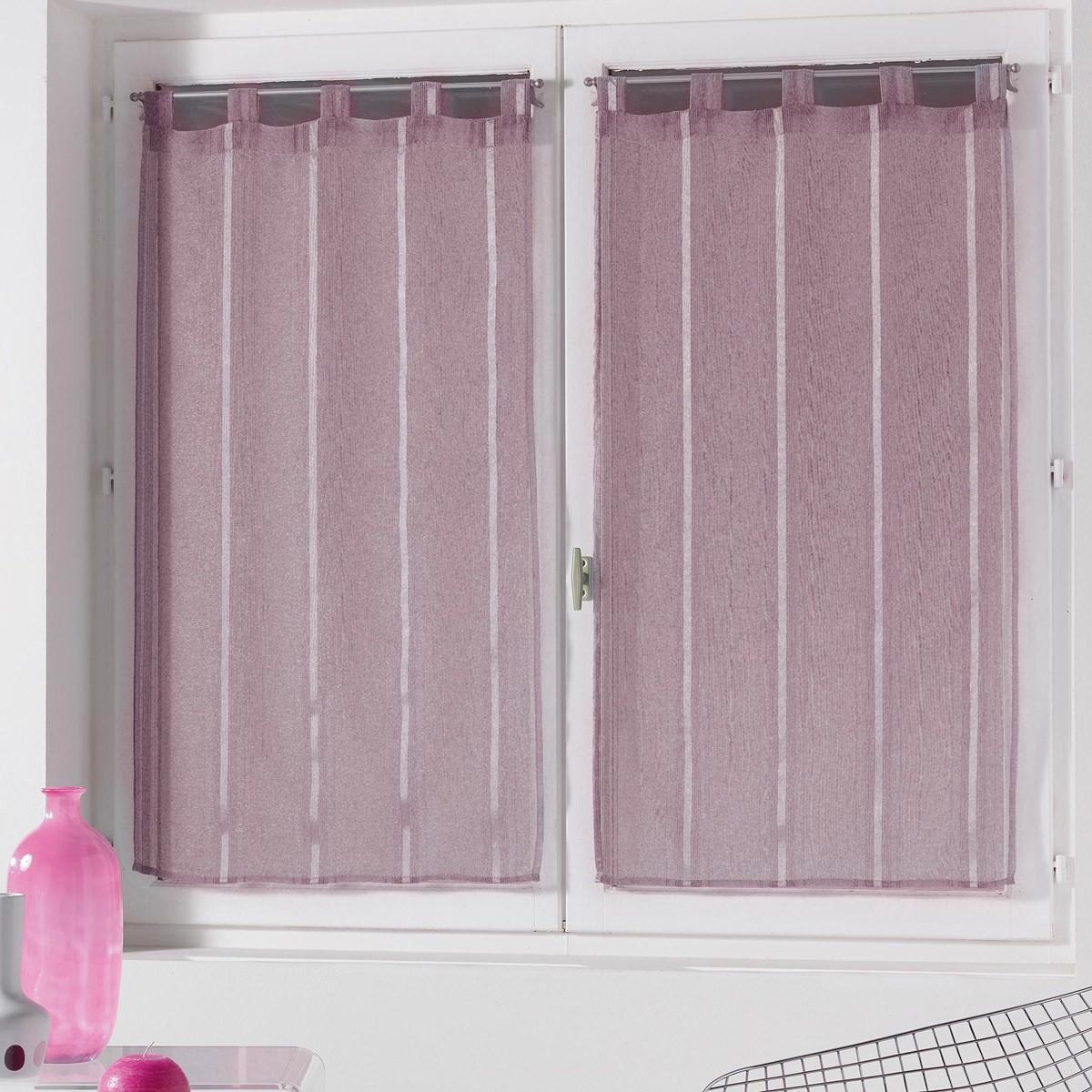 Σετ Κουρτίνες Παραθύρου (60x90) Louane Violet 1624061 home   κουζίνα   τραπεζαρία   κουρτίνες κουζίνας