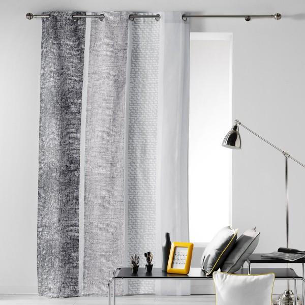 Κουρτίνα (140x240) Με Τρουκς Textilio Gris 1606069