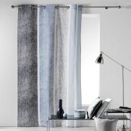 Κουρτίνα (140x240) Με Τρουκς Textilio Bleu 1606070