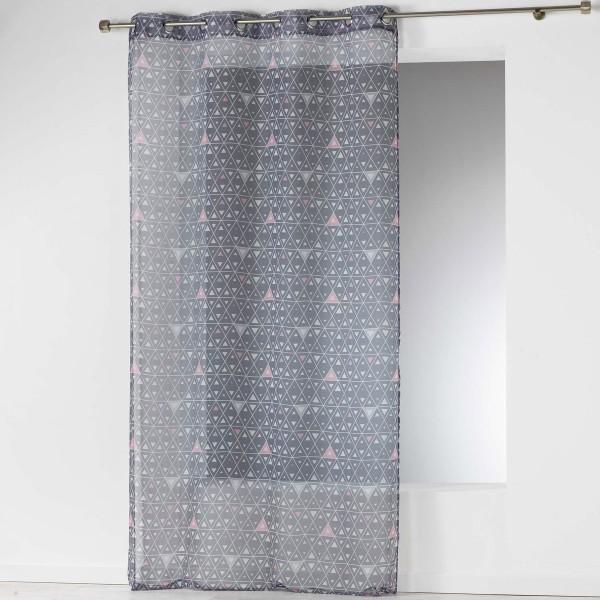 Κουρτίνα (140x240) Με Τρουκς Cylia Voilage Gris 1624727