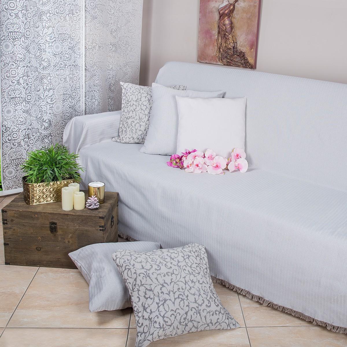Ριχτάρι Πολυθρόνας (180x180) Loom To Room Chevron Beige home   σαλόνι   ριχτάρια καναπέ