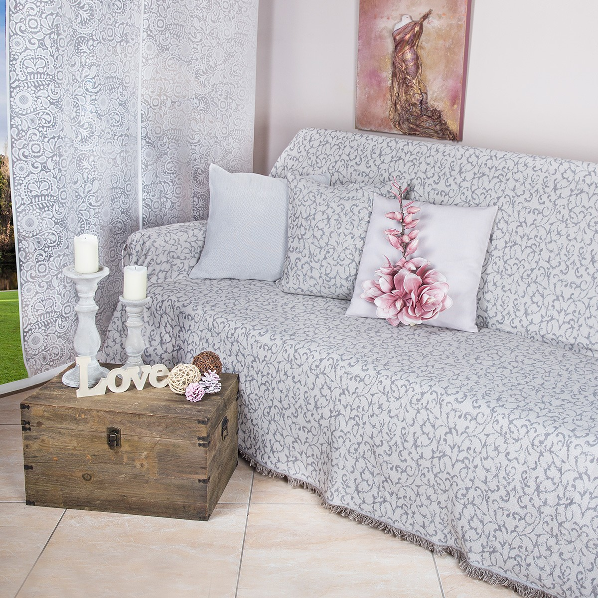 Ριχτάρι Πολυθρόνας (180×180) Loom To Room Vecchio Elephant