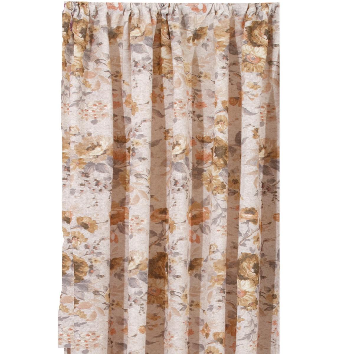 Κουρτίνα (140×270) Με Τρέσα Viopros Πέρυ Μπεζ