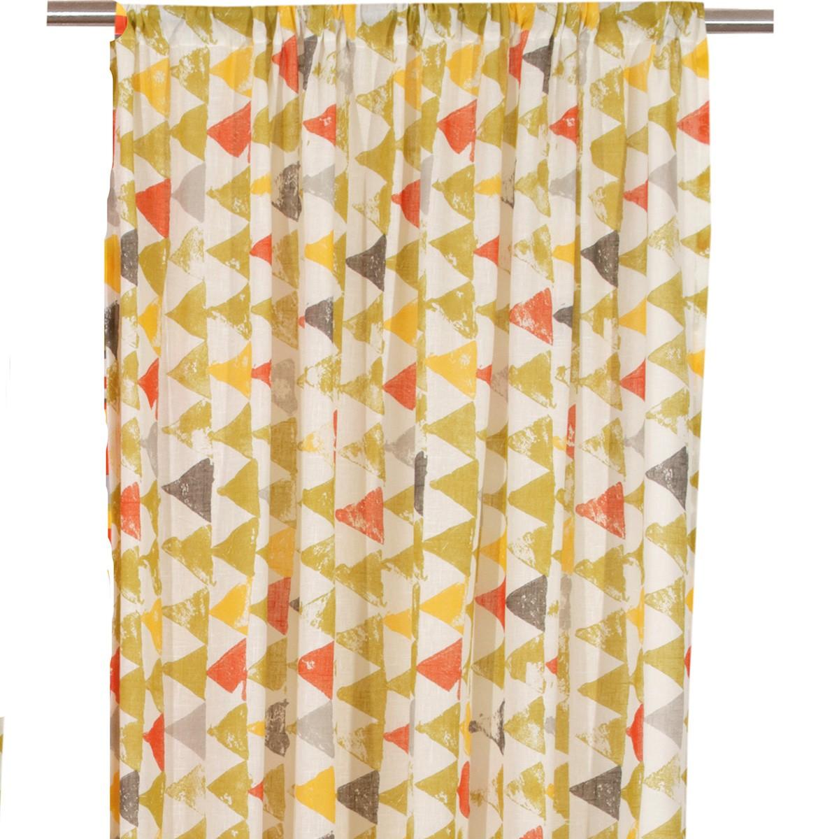Κουρτίνα (280×270) Με Τρέσα Viopros Τόρυ Φυστικί