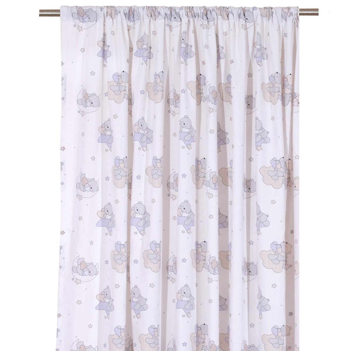 Παιδική Κουρτίνα (160×270) Viopros Curtains Τέντι Γκρι