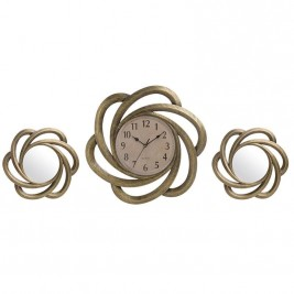 Ρολόι Τοίχου Με Καθρέπτες InArt 3-20-284-0101