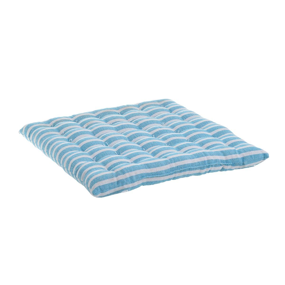 Μαξιλάρι Καρέκλας Stripes Turquoise 6-40-807-0010