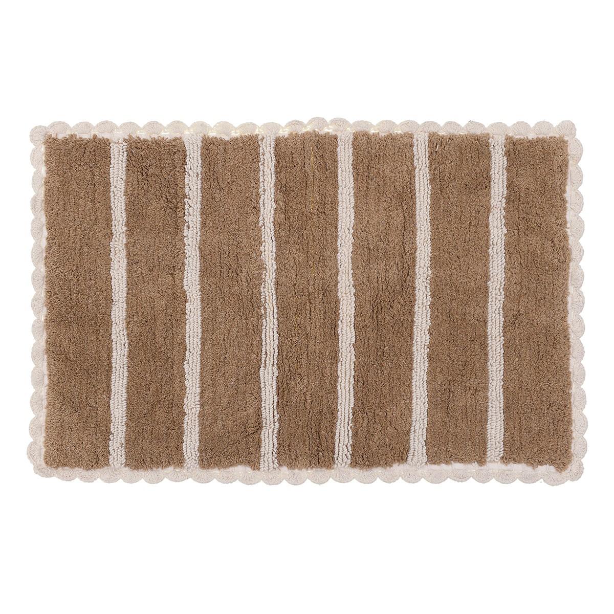 Πατάκι Μπάνιου (50×80) Lace Brown 6-40-803-0004