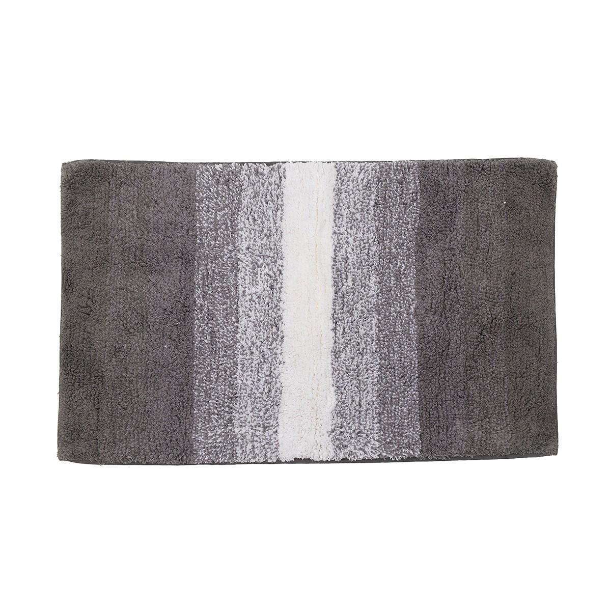 Πατάκι Μπάνιου (50×80) Stripes Grey/White 6-40-803-0007