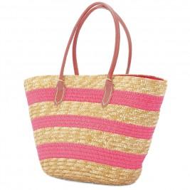 Ψάθινη Τσάντα Παραλίας Benzi 4643 Pink