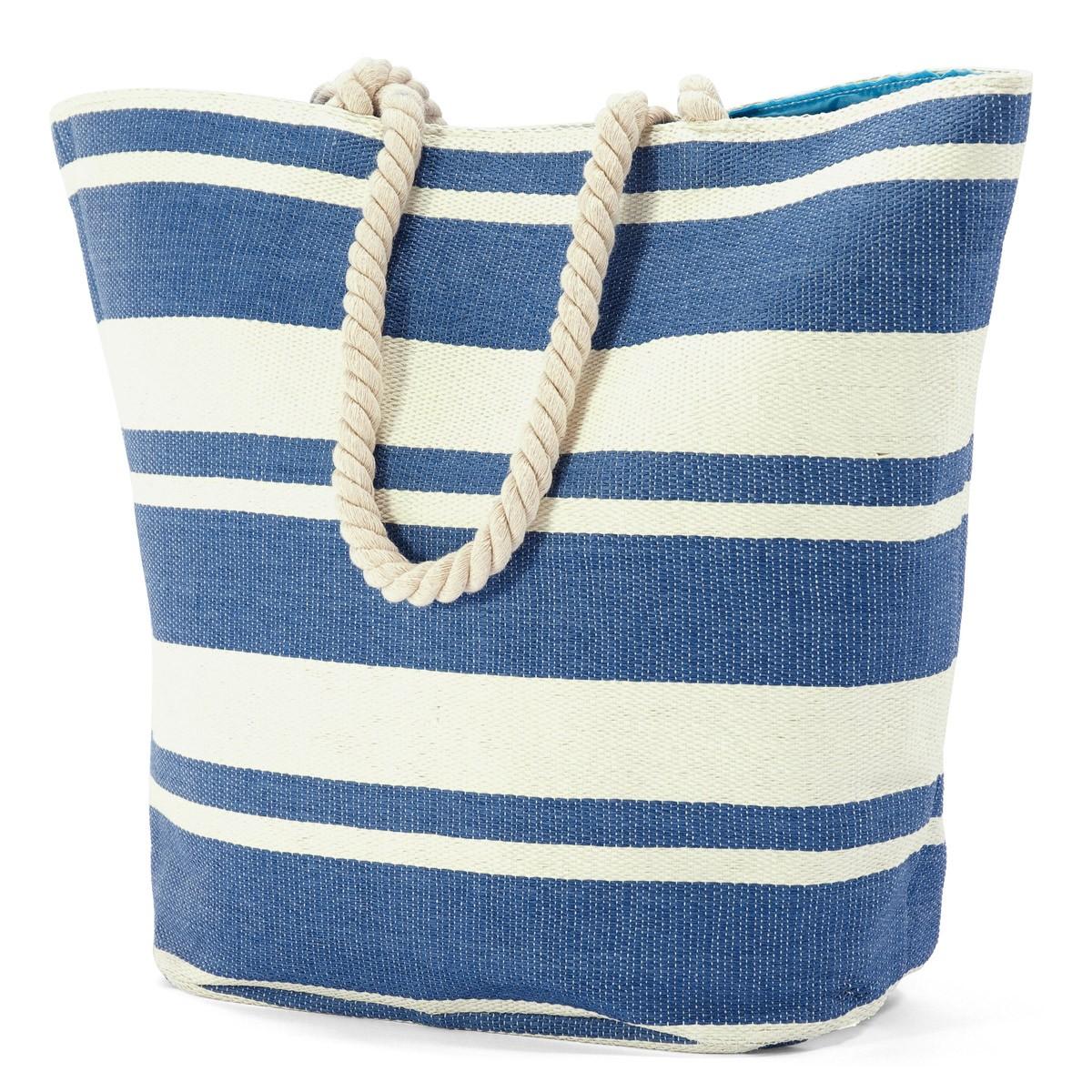 Ψάθινη Τσάντα Παραλίας Benzi 5018 Blue home   θαλάσσης   τσάντες θαλάσσης