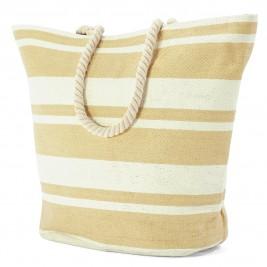 Ψάθινη Τσάντα Παραλίας Benzi 5018 Beige