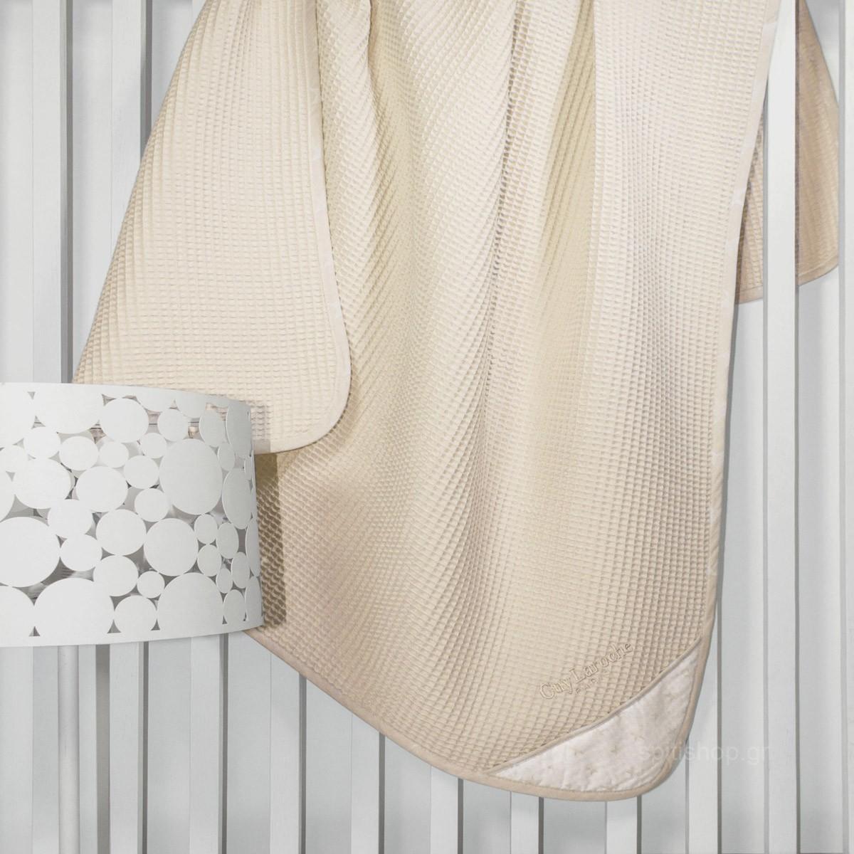 Κουβέρτα Πικέ Κούνιας Guy Laroche Heaven Natural