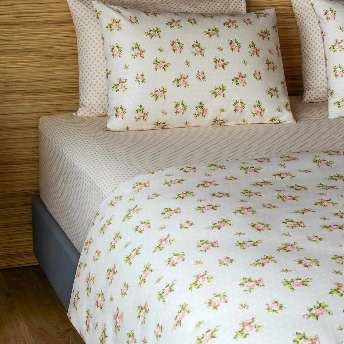 Σεντόνια Διπλά (Σετ) Melinen 12749 Beige home   κρεβατοκάμαρα   σεντόνια   σεντόνια ημίδιπλα   διπλά
