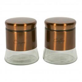 Δοχείο Ζάχαρης + Καφέ (Σετ) Marva Bronze 776001