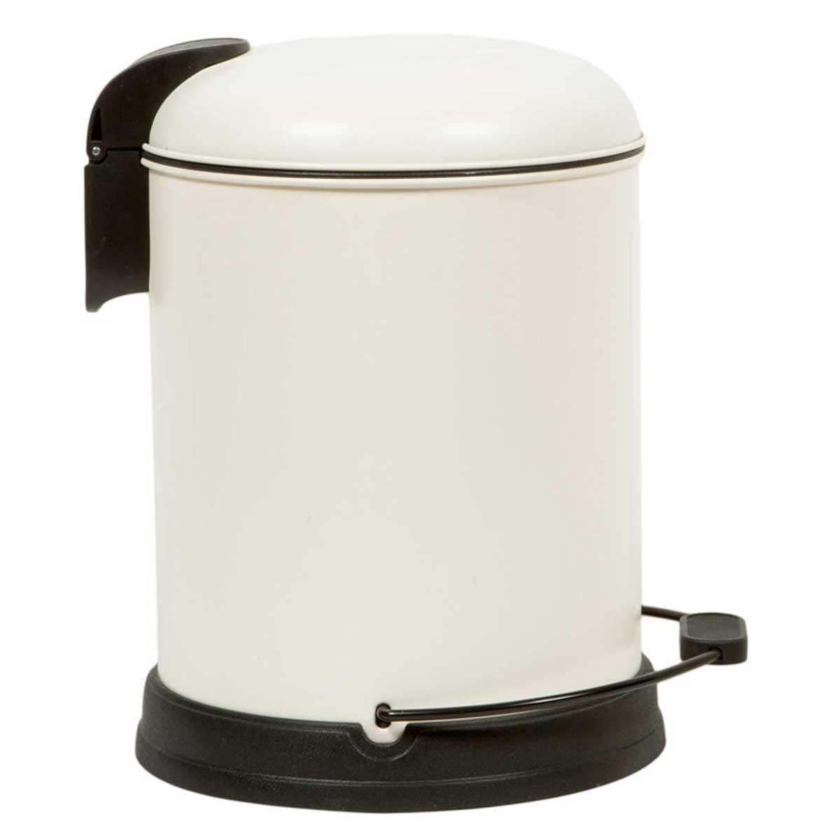 Κάδος Απορριμμάτων (24x30) Marva 5Lit Velvet Cream 779002 home   μπάνιο   κάδοι απορριμμάτων