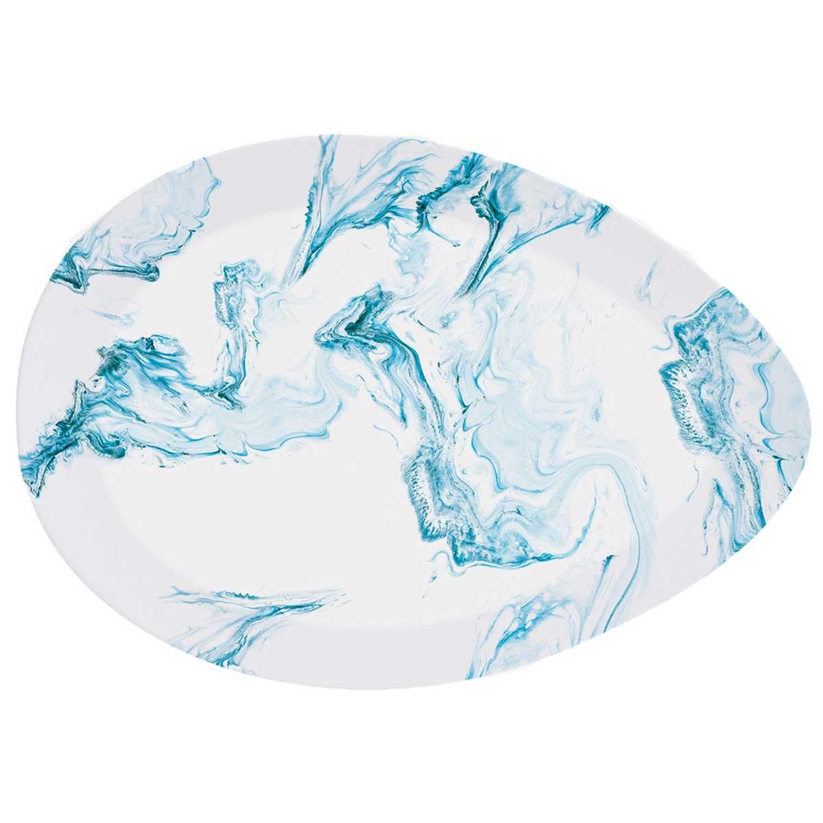 Πιατέλα Σερβιρίσματος Marva Aqua 1087ΑQUΑ home   κουζίνα   τραπεζαρία   είδη σερβιρίσματος