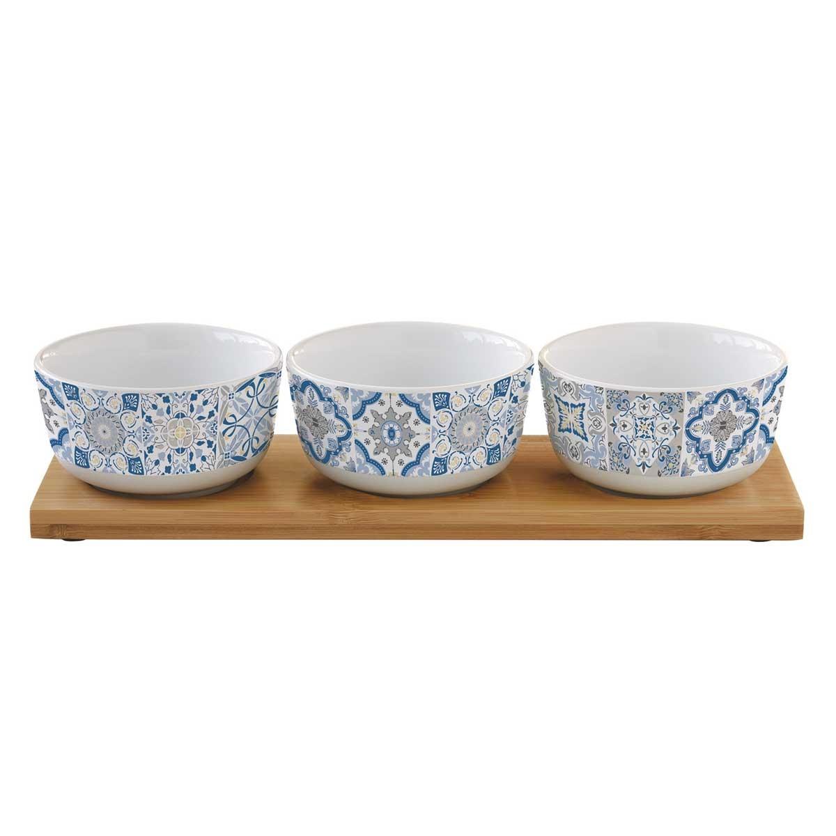 Ορντεβιέρα Σερβιρίσματος 3 Θέσεων Marva Casadecor Blue 1662CΑDΒ home   κουζίνα   τραπεζαρία   είδη σερβιρίσματος