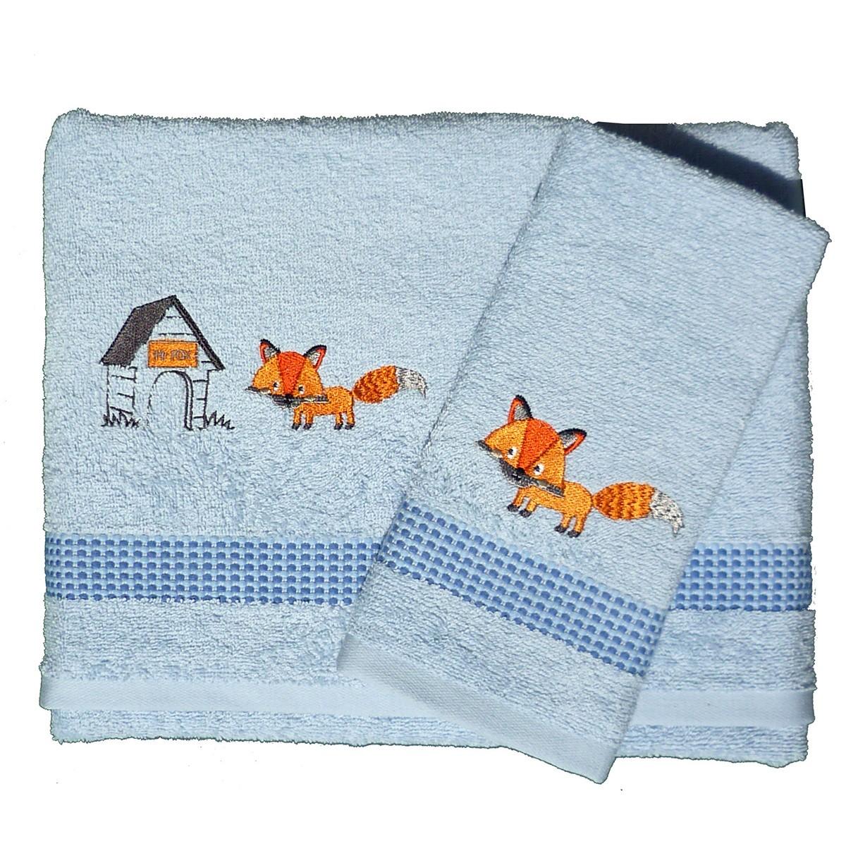 Βρεφικές Πετσέτες (Σετ 2τμχ) Morven Fox Blue 1811/05