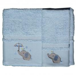 Βρεφικές Πετσέτες (Σετ 2τμχ) Morven Rainy Blue 1808/05