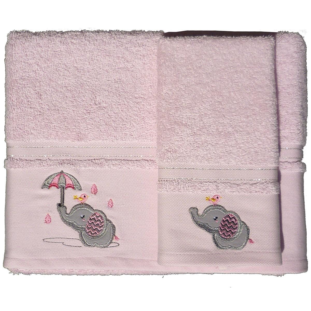 Βρεφικές Πετσέτες (Σετ 2τμχ) Morven Rainy Pink 1808/04