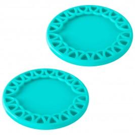 Σουβέρ Για Κολωνάτα Ποτήρια (Σετ 2τμχ) Marva Maid Turquoise 8541