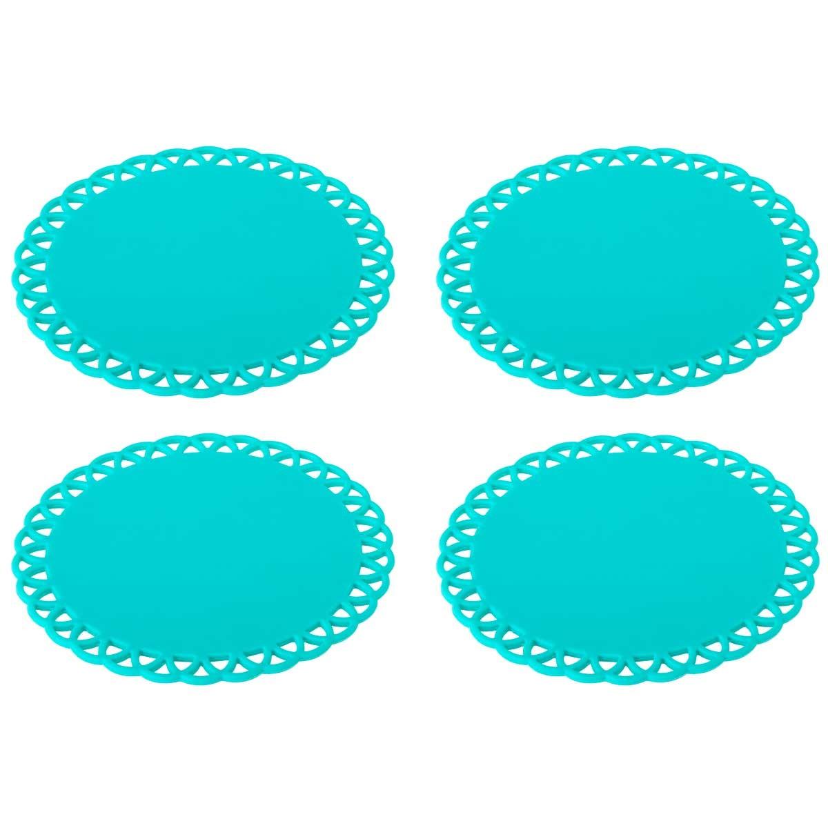 Σουβέρ (Σετ 4τμχ) Marva Maid Turquoise 8855