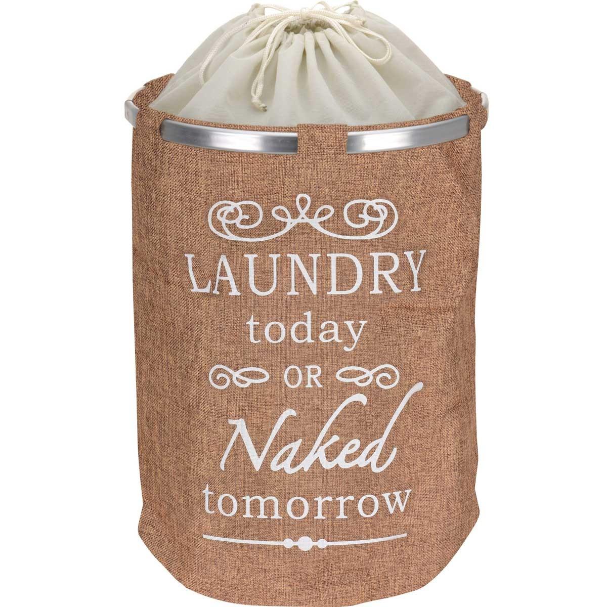 Καλάθι Απλύτων Marva Laundry Textile Beige 170423650