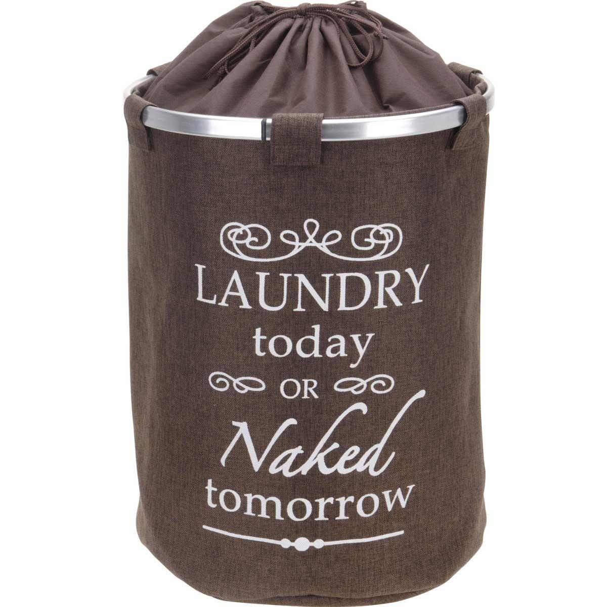 Καλάθι Απλύτων Marva Laundry Textile Brown 170423660