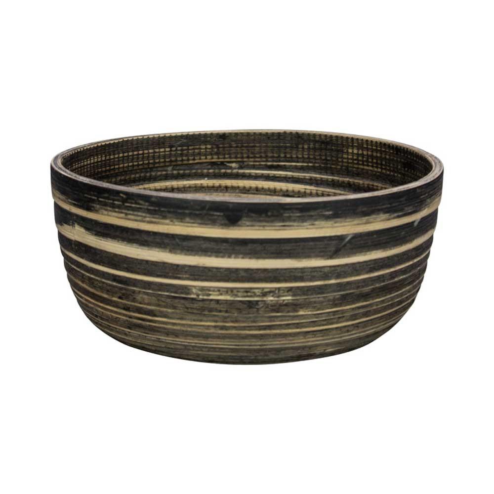 Μπωλ Marva Natural Black Bamboo Large 02139300 home   κουζίνα   τραπεζαρία   πιάτα   μπωλ