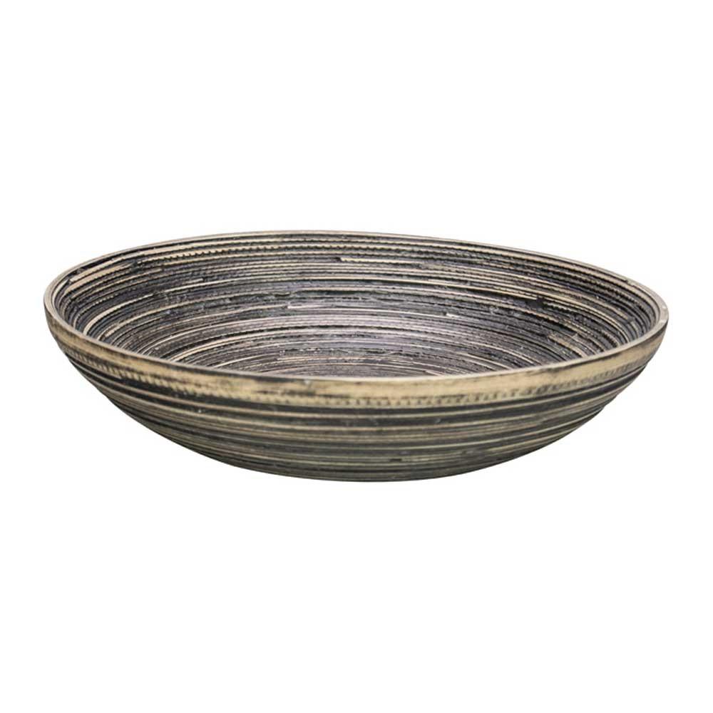 Φρουτιέρα Marva Natural Black Bamboo Small 02139330 home   κουζίνα   τραπεζαρία   επιτραπέζια είδη