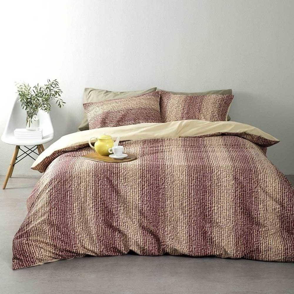 Παπλωματοθήκη Μονή (Σετ) Nima Bed Linen Doha