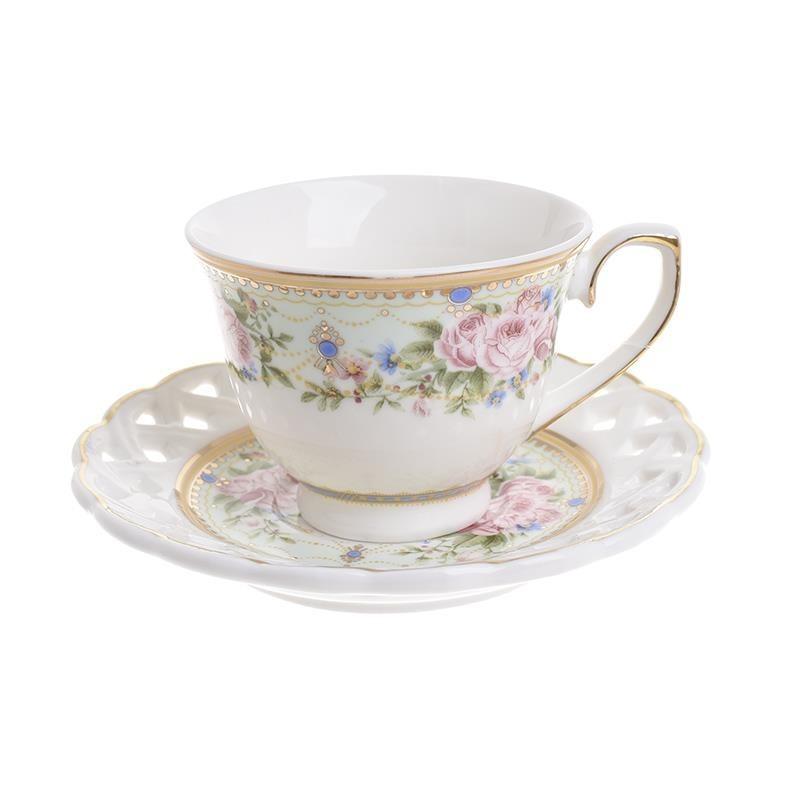 Φλυτζάνια Καφέ + Πιατάκια (Σετ 6τμχ) InArt 3-60-802-0056