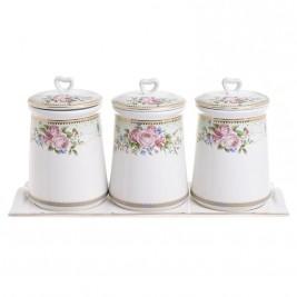 Δοχείο Ζάχαρης + Καφέ + Τσάι (Σετ) InArt 3-60-802-0064