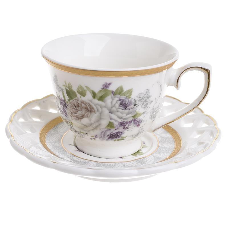 Φλυτζάνια Καφέ + Πιατάκια (Σετ 6τμχ) InArt 3-60-802-0069