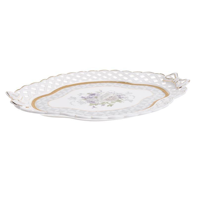 Πιατέλα Σερβιρίσματος InArt 3-60-802-0072 home   κουζίνα   τραπεζαρία   είδη σερβιρίσματος